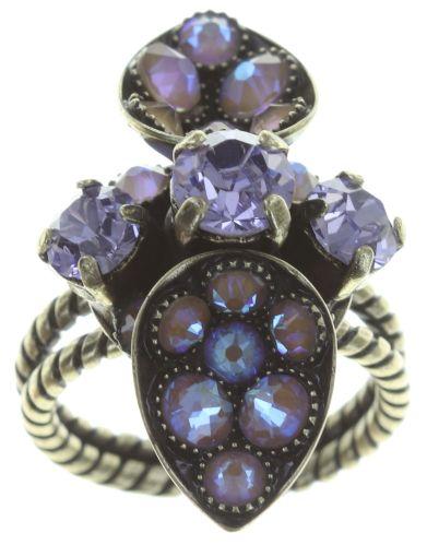 Konplott Tears of Joy Ring in braun crystal cappucci Größe S 5450543765495