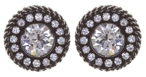 Konplott Rock 'n' Glam Ohrstecker in crystal weiß 5450543778129