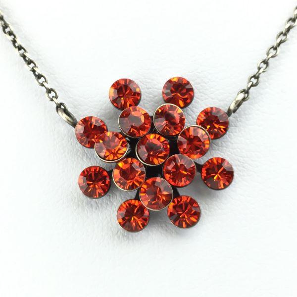Magic Fireball Halskette mit Anhänger in hyacinth, rot/orange