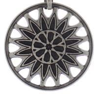 Vorschau: Konplott Rosone Halskette mit Anhänger Größe M in schwarz 5450543654386