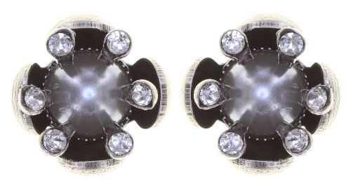 Konplott Petit Fleur de Bloom Ohrstecker in dragonfly grau 5450543794037