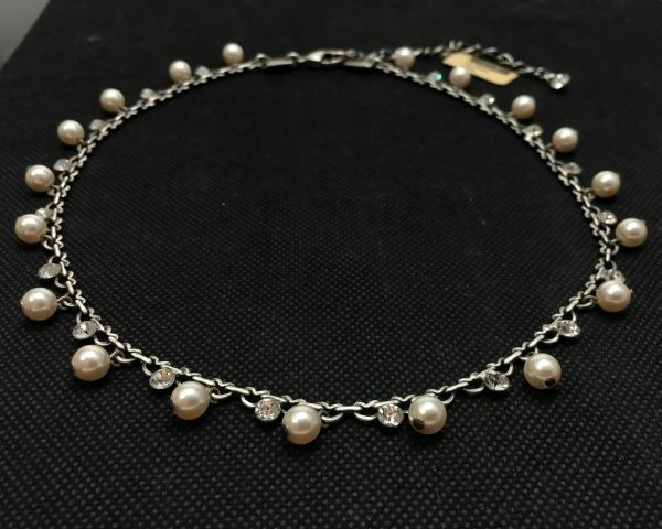 Konplott Pearl Shadow crystal Halskette steinbesetzt 5450527444439