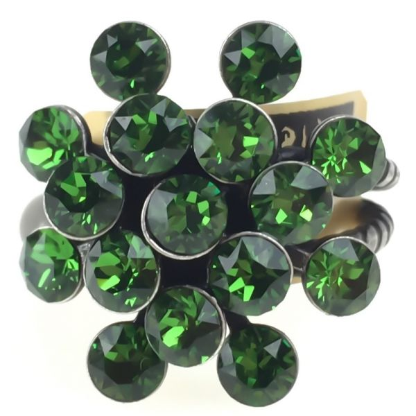 Konplott Magic Fireball 16 Stein Ring in Farn grün 5450527778305