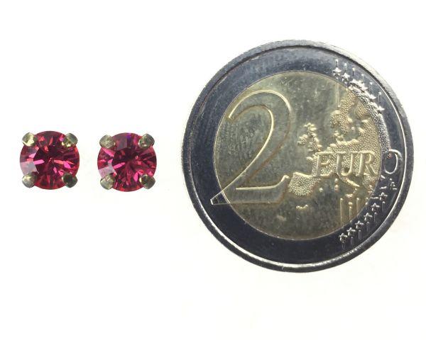 Konplott Black Jack Ohrstecker eckig in indian pink, pink/rot 5450527612333