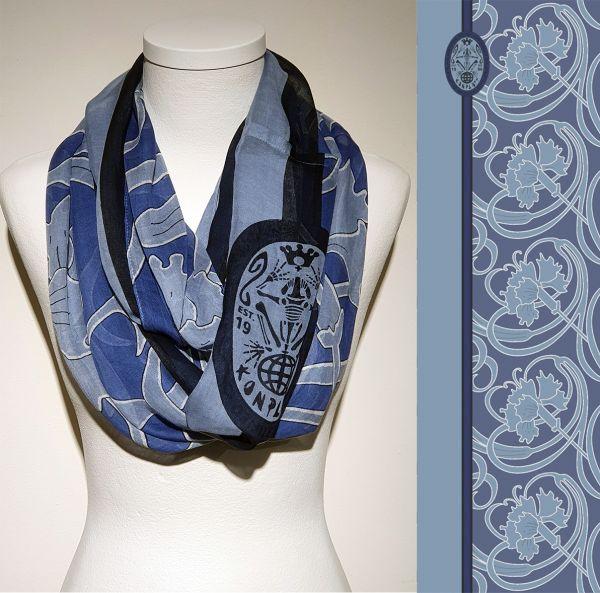 Konplott Schal Floral 19 in blau 5450543807157