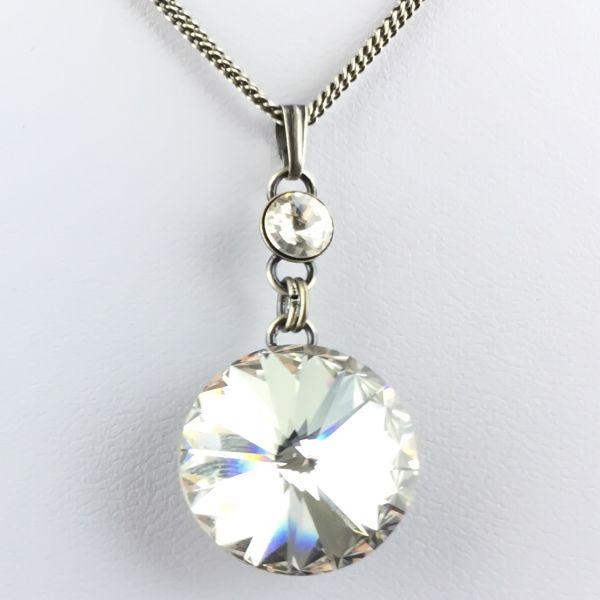 Rivoli crystal weiße Halskette lang mit Anhänger