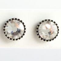Konplott Black Jack Ohrstecker klassisch rund klein in white crystal 5450527601320