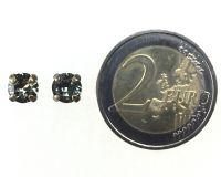 Vorschau: Konplott Black Jack Ohrstecker eckig in Black Diamond, kristall schwarz 5450527123877
