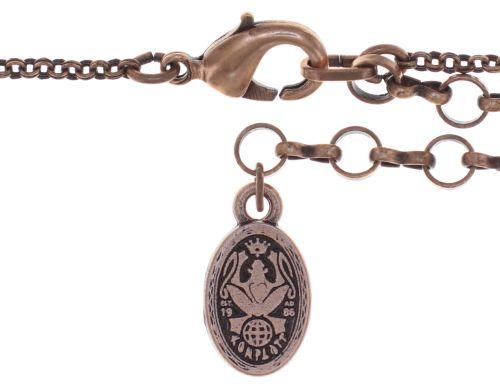 Konplott Amazonia lange Halskette mit Anhänger in braun, Größe M 5450543752556