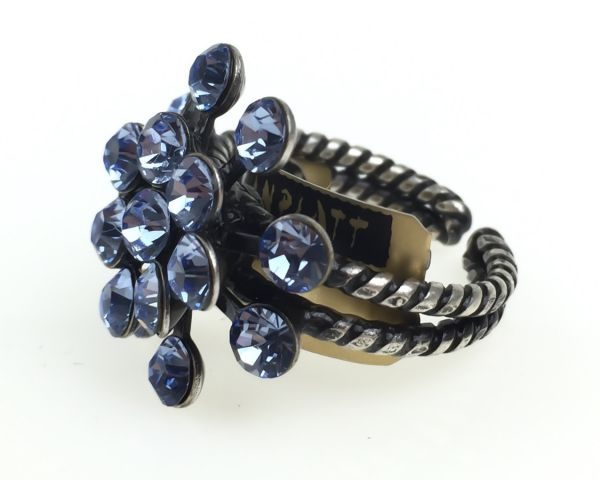 Konplott Magic Fireball 16 Stein Ring in light sapphire, hellblau 5450527612043