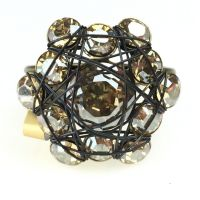 Bended Lights Ring in hellbraun/beige
