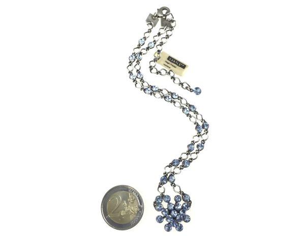Konplott Magic Fireball Halskette steinbesetzt mit Anhänger in light sapphire, hellblau 5450527612005