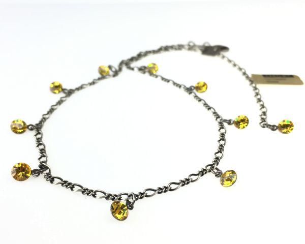 Konplott Tutui light topaz Halskette steinbesetzt, gelb 5450527641357