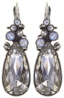 Konplott Alien Caviar Ohrring Crystal Clear in weiß *Neu: Fassung aus Titan 5450543895499