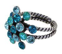 Konplott Magic Fireball Ring in blau/grün Classic Size 5450543903958