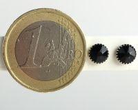 Vorschau: Konplott Black Jack Ohrstecker klassisch rund klein in black jet 5450527725187