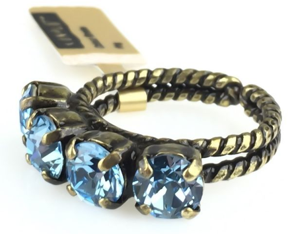 Konplott Colour Snake Ring in Aquamarine, hellblau 5450527257114