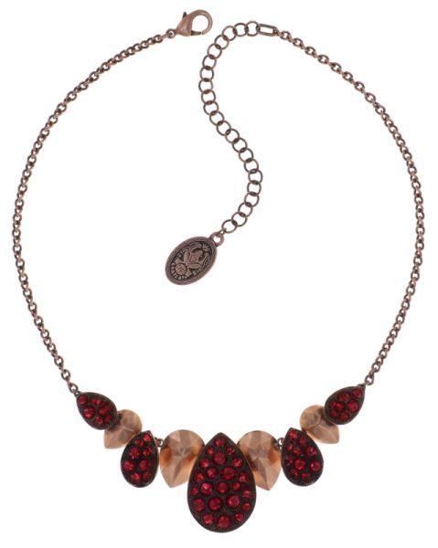 Tears of Joy steinbesetzte Halskette in coralline scarlet rot