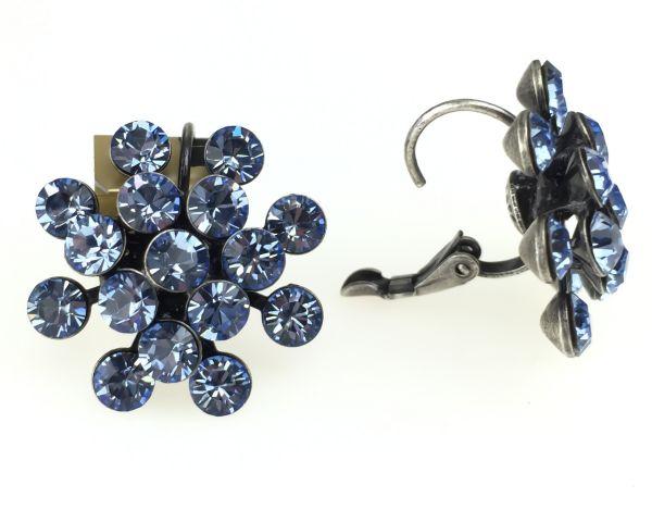 Konplott Magic Fireball Ohrhänger mit Klappverschluss in light sapphire, hellblau 5450527612036