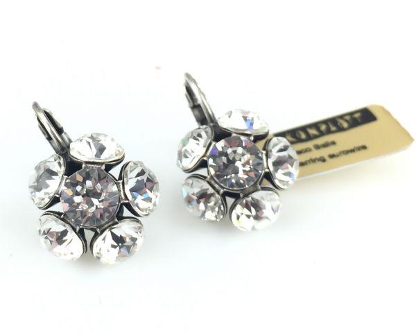 Konplott Disco Balls crystal Ohrhänger mit Klappverschluss 5450527597319
