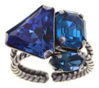 Vorschau: Konplott Mix the Rocks Ring in crystal blau 5450543790237