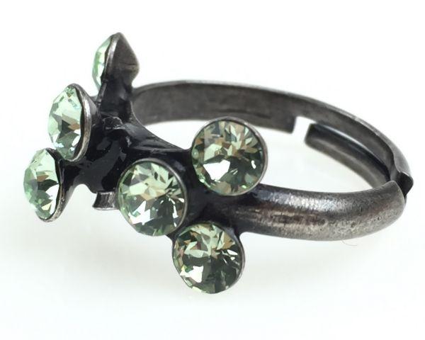 Konplott Magic Fireball 8 Stein Ring in chrysolite, hellgrün 5450527612135