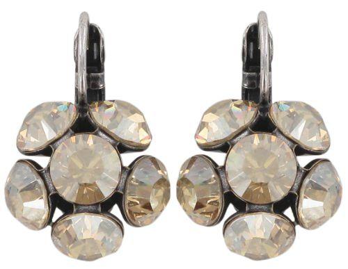 Disco Balls crystal golden shadow Ohrhänger mit Klappverschluss