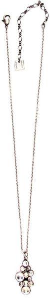 Konplott Water Cascade Halskette mit Anhänger in weiß antik silber 5450543686158