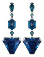 Konplott Mix the Rocks Ohrstecker in crystal blau 5450543790114