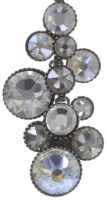 Vorschau: Konplott Water Cascade Halskette mit Anhänger in weiß antik silber 5450543686158