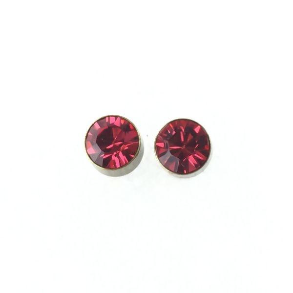Konplott Black Jack Ohrstecker klein in indian pink, pink/rot 5450527612340