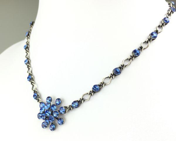 Konplott Magic Fireball Halskette steinbesetzt mit Anhänger in sapphire, blau 5450527611688