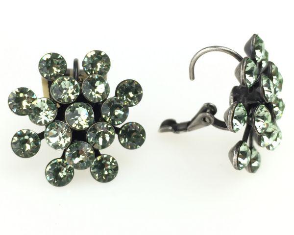 Konplott Magic Fireball Ohrhänger mit Klappverschluss in chrysolite, hellgrün 5450527612111