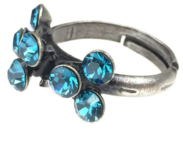 Konplott Magic Fireball 8 Stein Ring in indicolite, blau 5450527640244