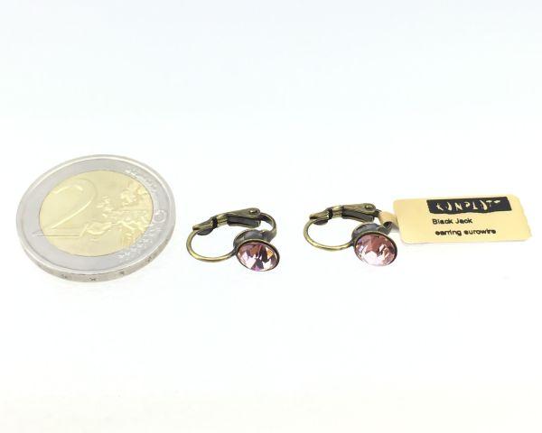 Konplott Black Jack Ohrhänger mit Klappverschluss in vintage rose 5450527641531