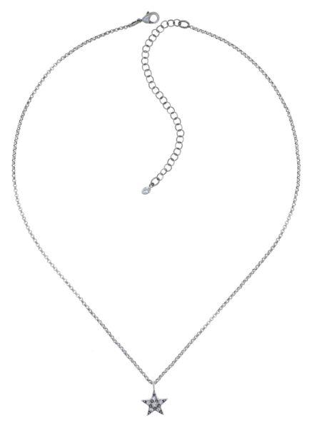 Konplott Dancing Star Halskette mit Anhänger in weiß Größe XS 5450543774718