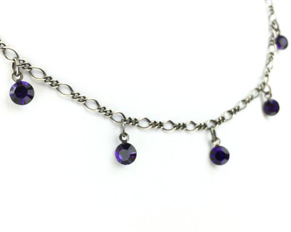 Konplott Tutui purple velvet Halskette steinbesetzt 5450527641234