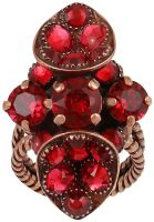 Konplott Tears of Joy Ring in coralline scarlet rot Größe S 5450543765518