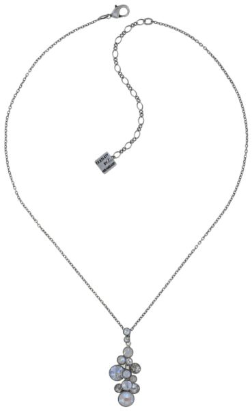 Konplott Water Cascade Halskette in Vanilla Sorbet weiß/grau 5450543906935