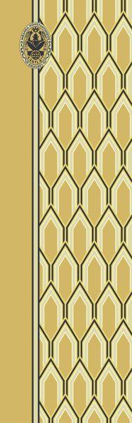 Konplott Schal Geometrisch 12 in gelb 5450543806990