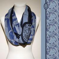 Vorschau: Konplott Schal Floral 19 in blau 5450543807157