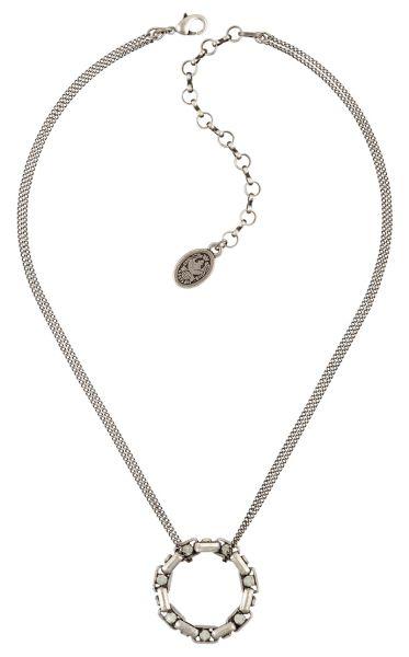 Konplott Industrial Halskette in opal weiß 5450543796611