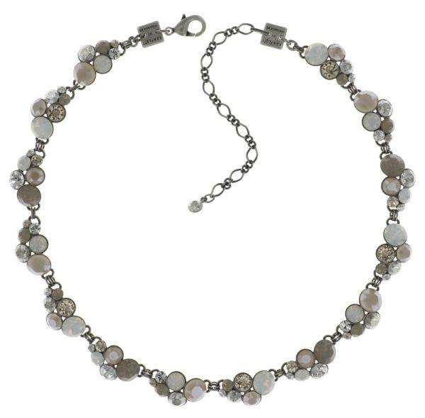 Konplott Petit Glamour weiß/beige Halskette steinbesetzt 5450543631141
