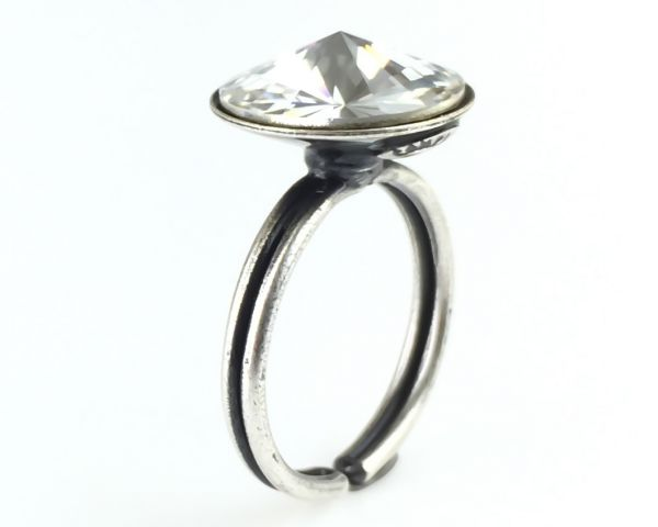 Rivoli crystal weißer Ring