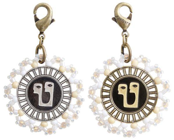 Konplott Zodiac weißer Charm-Anhänger (Zwillinge) 5450543648354