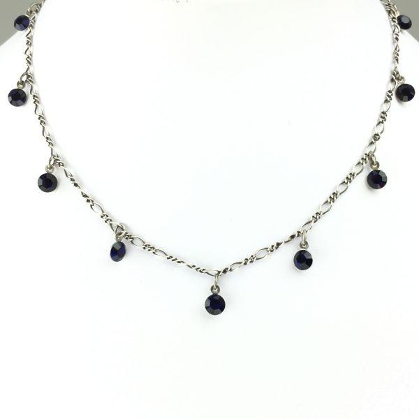 Tutui dark indigo Halskette steinbesetzt
