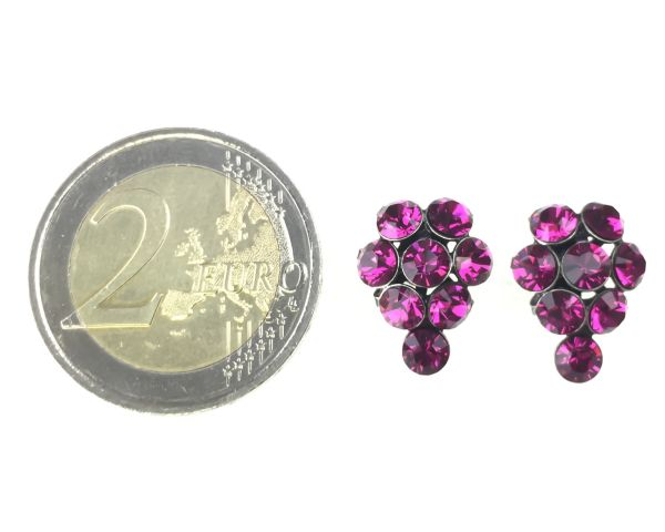 Konplott Magic Fireball Ohrstecker Traube in fuchsia, pink 5450527611916