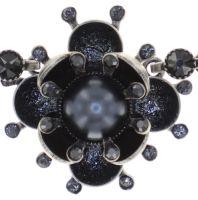 Vorschau: Konplott Petit Fleur de Bloom Halskette in schwarz carbon bloom 5450543855356