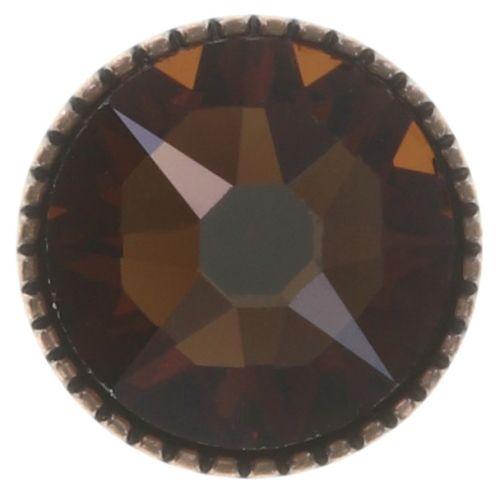 Konplott Black Jack Ohrstecker groß in braun/orange smoked topaz 5450543750446