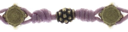 Konplott Festival Armband in lila/pink Messing 5450543746739